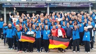 Die deutsche Mannschaft bei der Altersklassen-WM