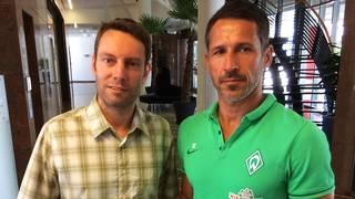 SPORT1-Redakteur Martin van de Flierdt traf Werders Macher Thomas Eichin in Salzburg