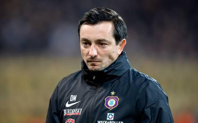 Cheftrainer Daniel Meyer von Erzgebirge Aue ist wegen eines Trauerfalls bis auf Weiteres freigestellt worden