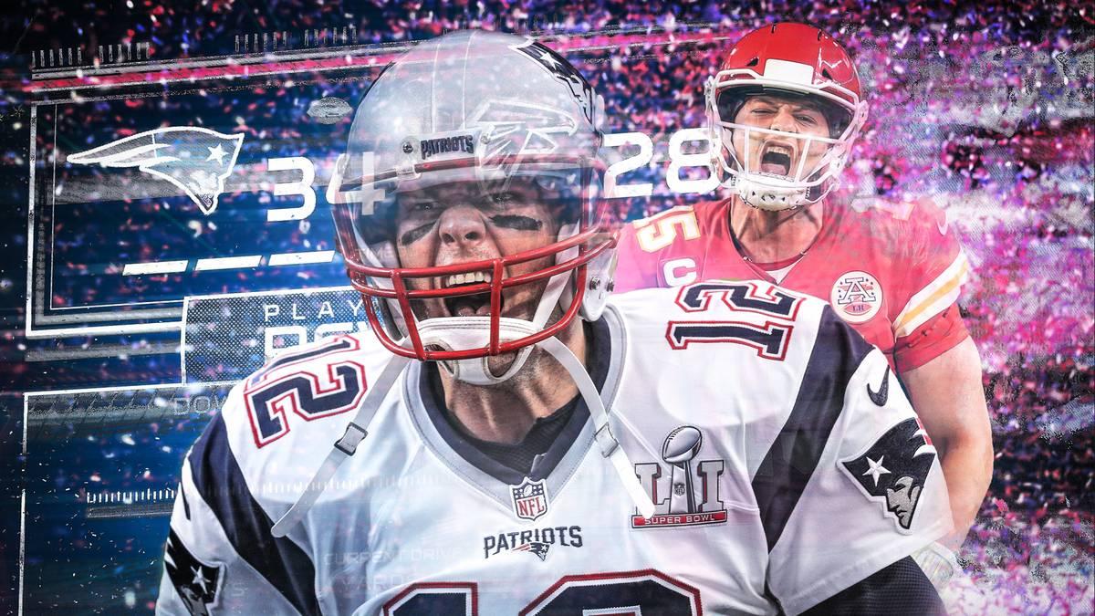 Tom Brady und Patrick Mahomes sorgten für zwei der größten Super-Bowl-Comebacks