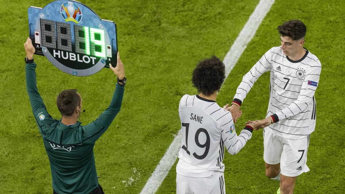 Weder Kai Havertz noch Leroy Sané können gegen Frankreich überzeugen. Bundestrainer Joachim Löw könnte gegen Portugal auf das Motto setzen: Wenn zwei sich streiten, freut sich der Dritte...