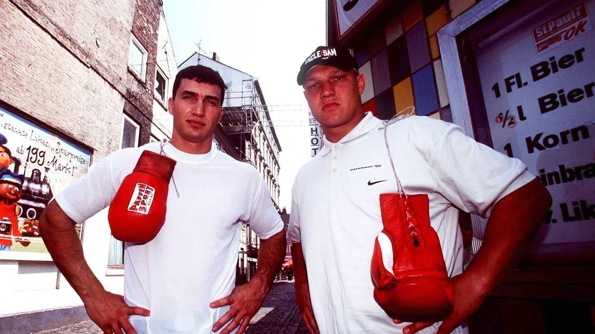 Axel Schulz und Wladimir Klitschko vor ihrem EM-Kampf 1999