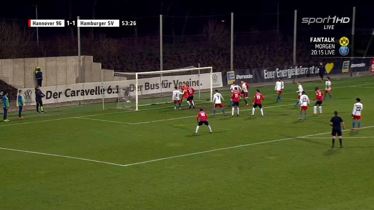 Daniel Eidtner gelang der Ausgleich für Hannover