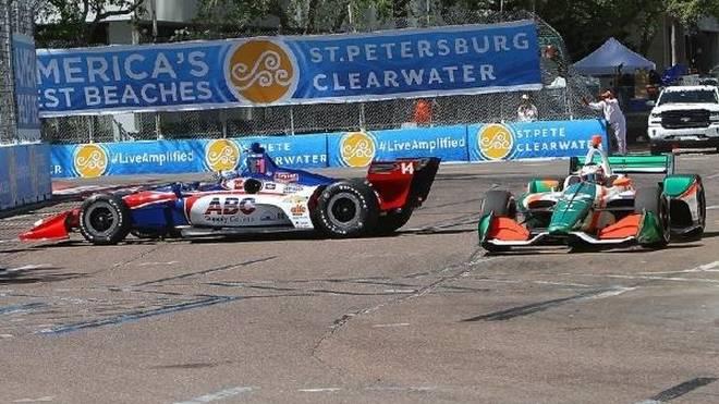 Selbst Routiniers wie Tony Kanaan passierten mit dem neuen IndyCar Fehler