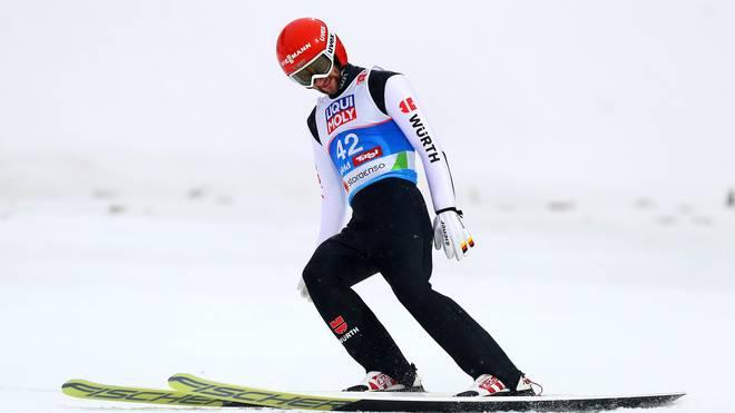 Markus Eisenbichler hatte beim Springen in Lillehammer keine Chance auf den Sieg
