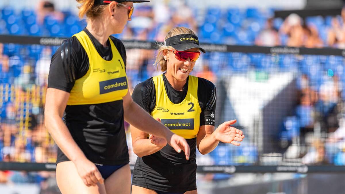 Karla Borger und Julia Sude (r.) gelang ein überraschender Erfolg gegen zwei US-Stars