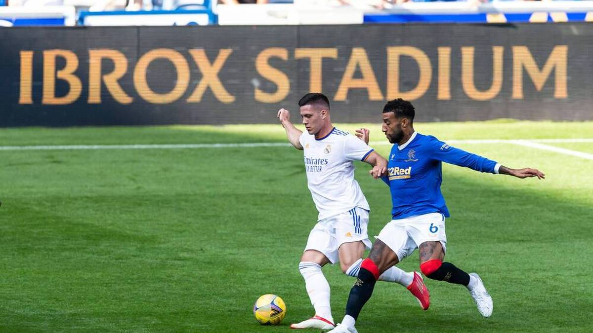 Luka Jovic konnte gegen die Rangers nicht überzeugen