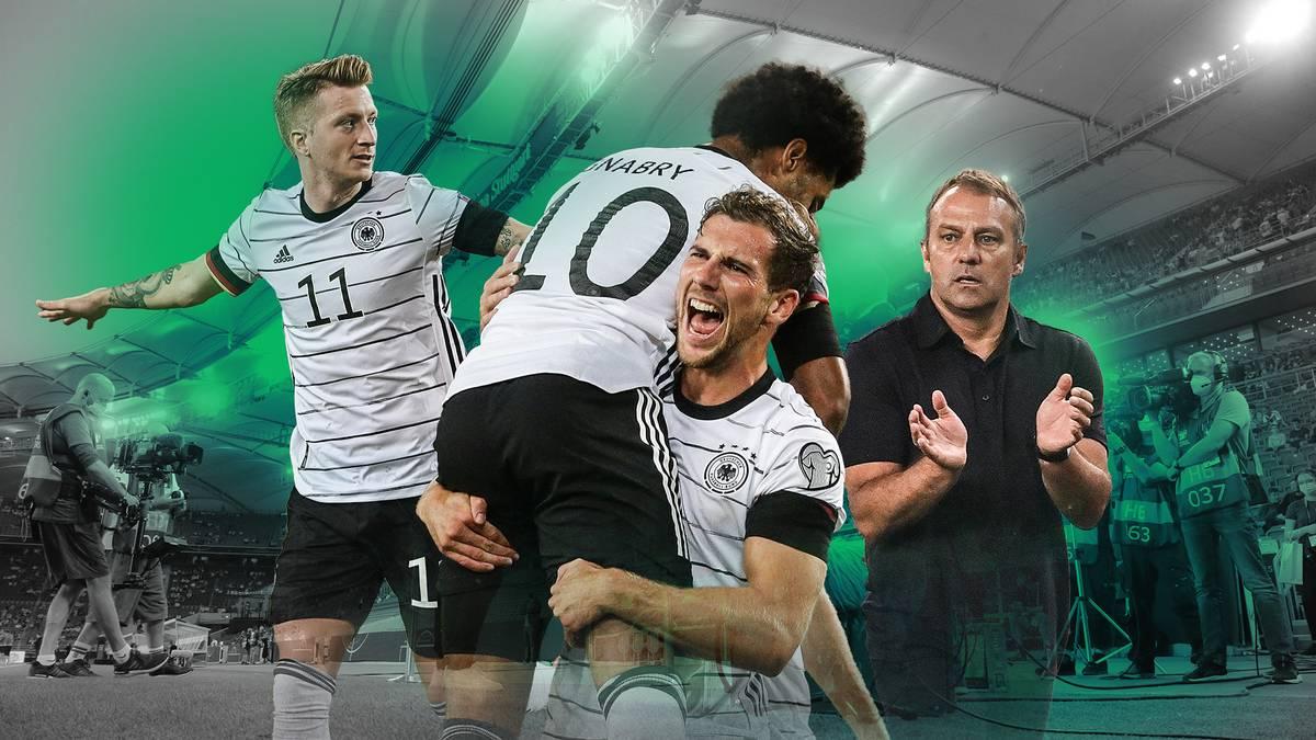 Hansi Flicks Heimdebüt als Bundestrainer ist mehr als geglückt. Gegen Armenien sorgte die DFB-Elf für ein Offensivspektakel und begeisterte damit die Zuschauer.