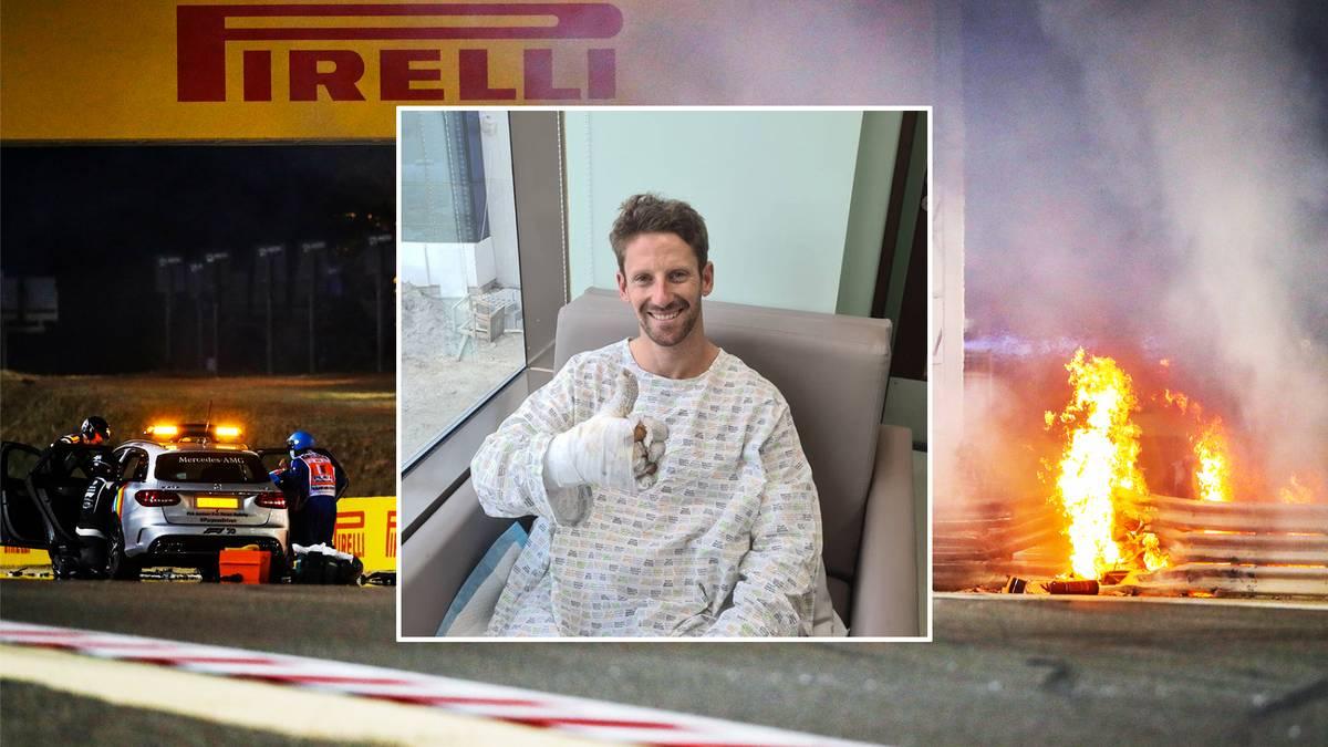 Romain Grosjean meldet sich nach seinem Horror-Crash aus dem Krankenhaus. Für ihn springt jetzt der Enkel eines Ex-Weltmeisters ein.