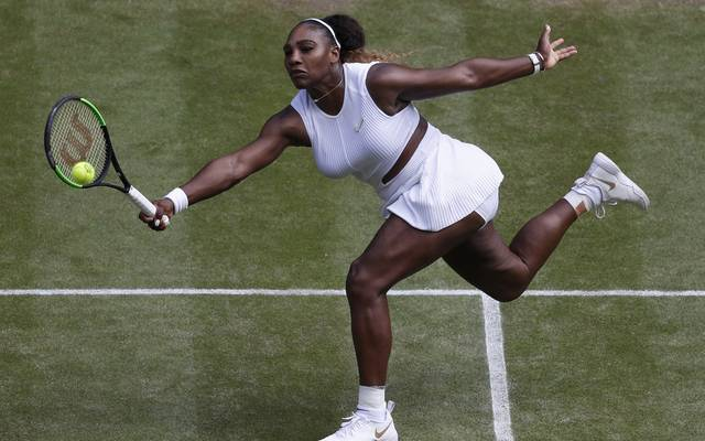 Serena Williams greift am Samstag in Wimbledon nach ihrem 24. Grand-Slam-Titel