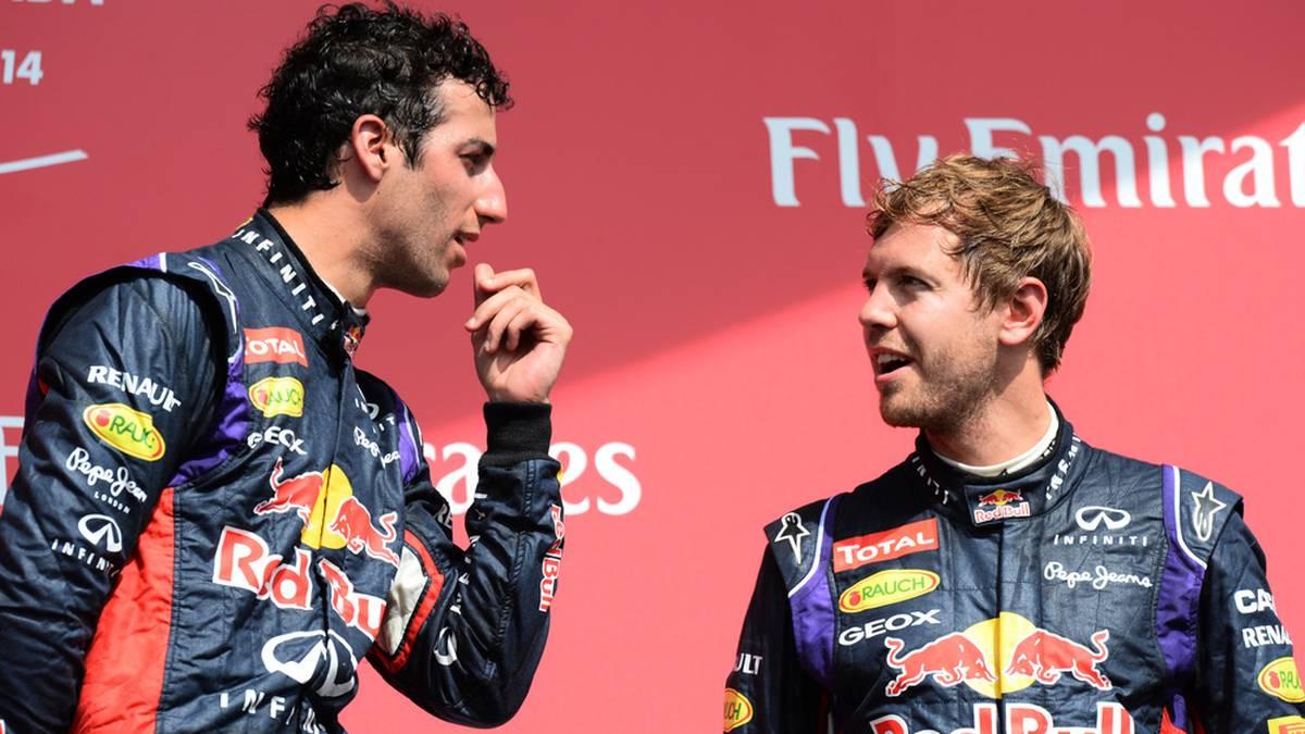 In der Saison 2014 fuhren Sebastian Vettel und Daniel Ricciardo für Red Bull