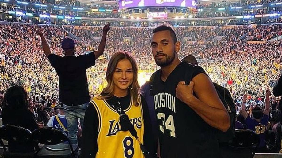 Nick Kyrgios und Anna Kalinskaya turtelten im März noch gemeinsam beim Lakers-Spiel