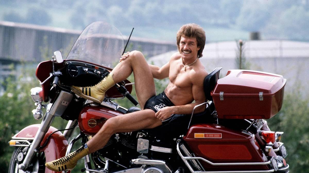 René Weller liebte es, sich halb nackt in Szene zu setzen