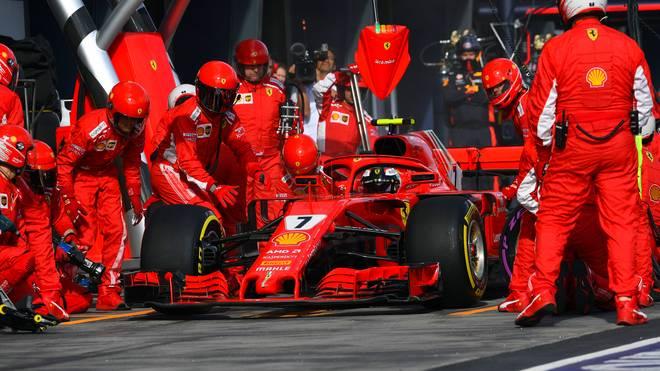 Kimi Räikkönen von Ferrari hatte in Melbourne das Nachsehen - zum Vorteil von Teamkollege Sebastian Vettel