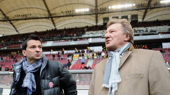 Christian Heidel und Mainz-Präsident Harald Strutz brachten den FSV weit nach vorne