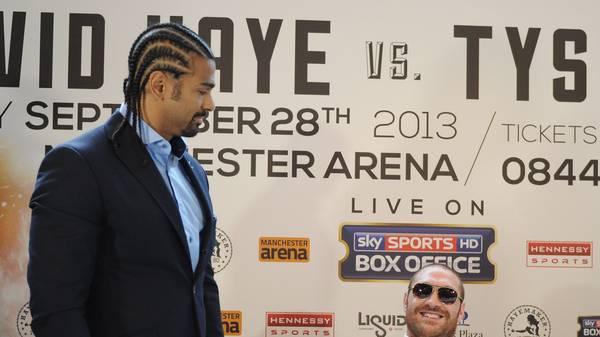 David Haye And Tyson Fury Press Conference