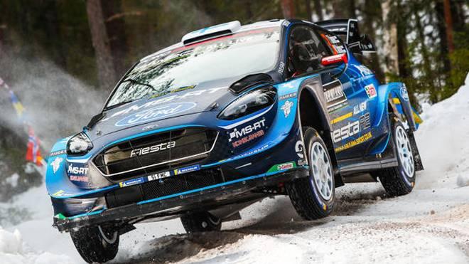 Teemu Sininen führt am Freitag die Rallye Schweden an