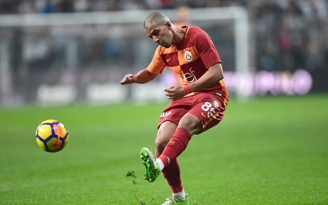 Sofiane Feghouli brachte Galatasaray kurz vor Schluss auf die Siegerstraße