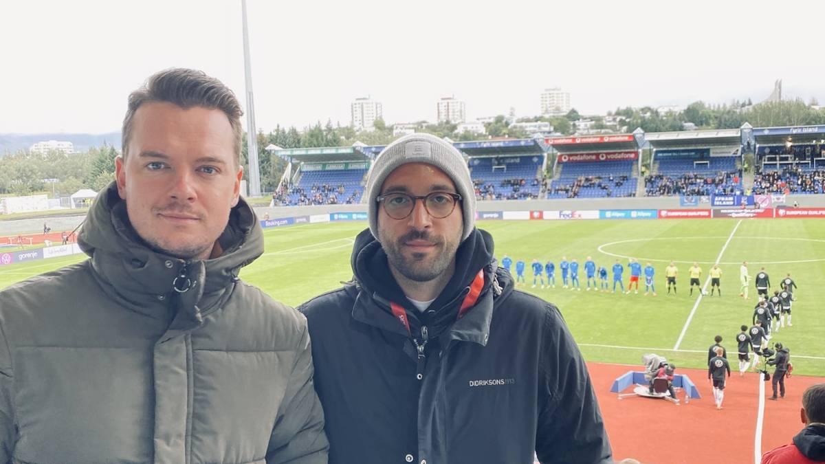 Die SPORT1-Reporter Florian Plettenberg und Patrick Berger waren beim Auftritt der Nationalmannschaft in Island vor Ort.