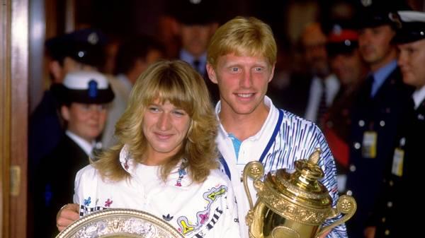 Boris Becker gratulierte Steffi Graf vorzeitig zum 50. Geburtstag 1989 feierten Steffi Graf und Boris Becker ein deutsches Tennis-Märchen in Wimbledon