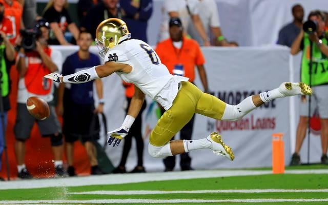 Equanimeous St. Brown spielt im College Football für Notre Dame Fighting Irish