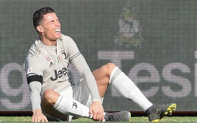 Cristiano Ronaldo bekam gegen Bologna einen Schlag auf den Knöchel