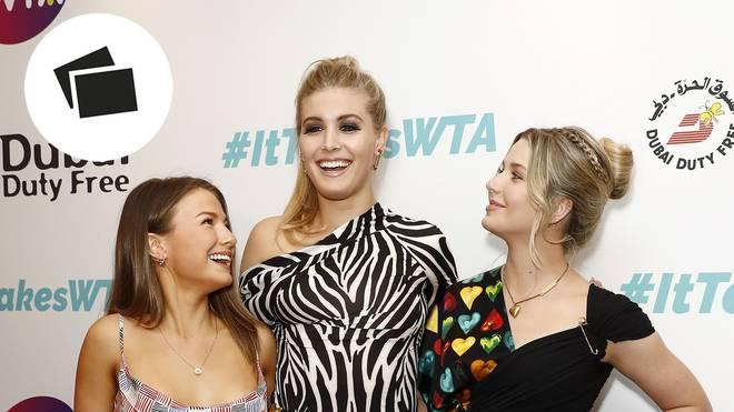 WTA-Sommerparty: Tennis-Beauty Eugenie Bouchard ist in Begleitung ihrer Schwester und Cousine am Start