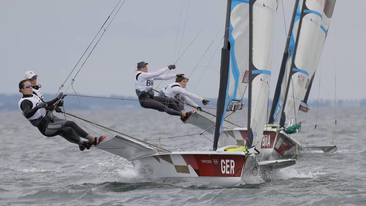 Tina Lutz und Susann Beucke holten Silber bei den olympischen Segelwettbewerben