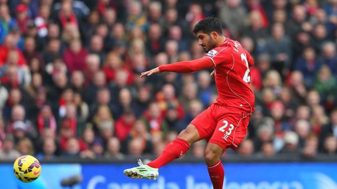 Emre Can vom FC Liverpool schießt