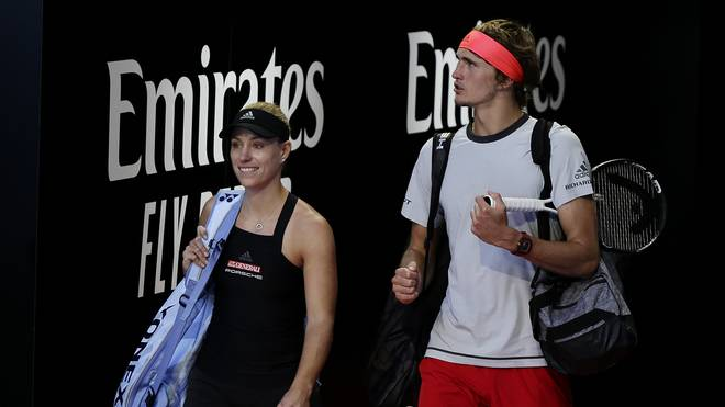 Alexander Zverev und Angelique Kerber fordern Roger Federer und Belinda Bencic