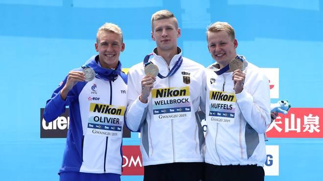 Florian Wellbrock und Rob Muffels gewannen über 10 Kilometer Gold und Bronze