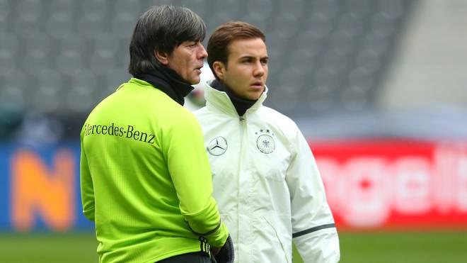 Mario Götze (r.) könnte bald wieder für die Nationalmannschaft auflaufen