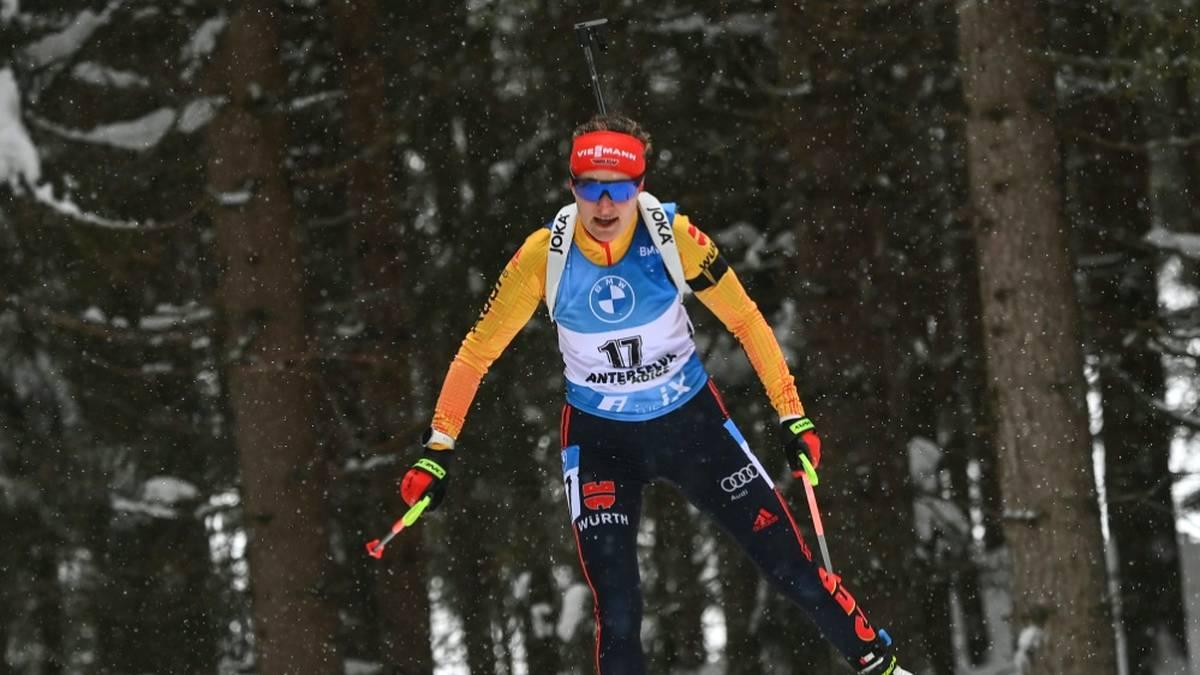 Janina Hettich landete im Einzel von Antholz auf Platz fünf