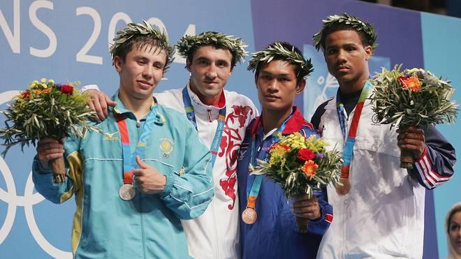 Gennadi Golowkin (l.) holte 2004 in Athen Olympia-Silber