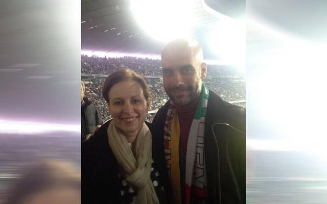 FC-Bayern-Trainer Pep Guardiola traf in der Allianz-Arena Chantal Borgonovo
