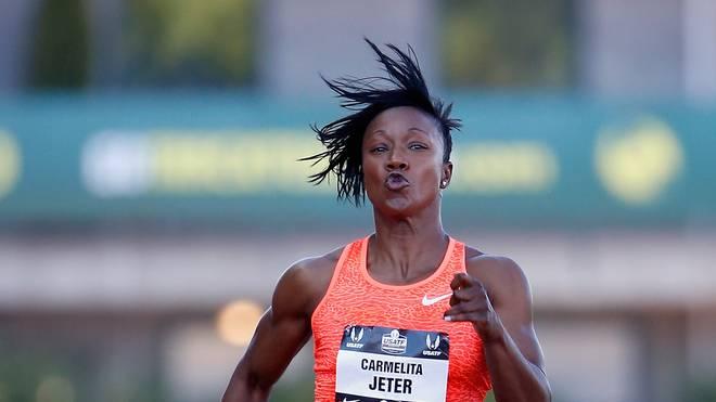 Carmelita Jeter lief die 100 m in 10,64 Sekunden