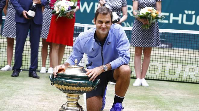Roger Federer gewann das Rasenturnier in halle bereits neun Mal