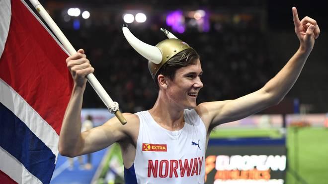 Jakob Ingebrigtsen feierte den Sieg über 1500 Meter