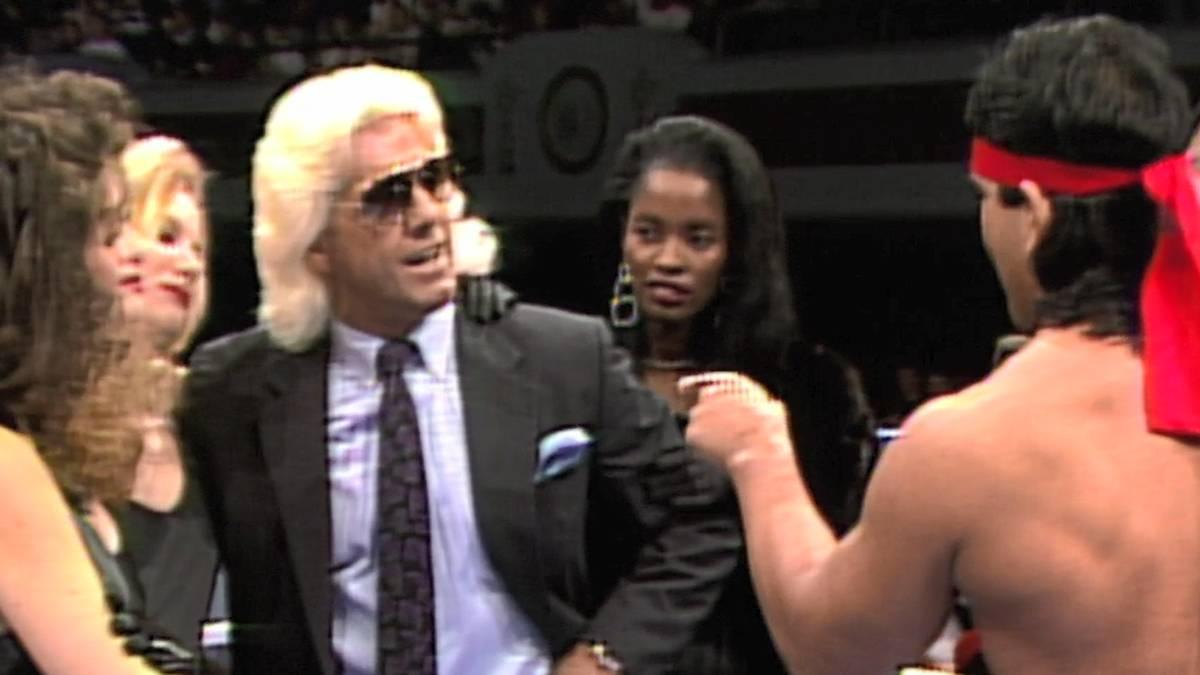 Wrestling-Duell der Gegensätze: Ric Flair (l.) und Ricky Steamboat