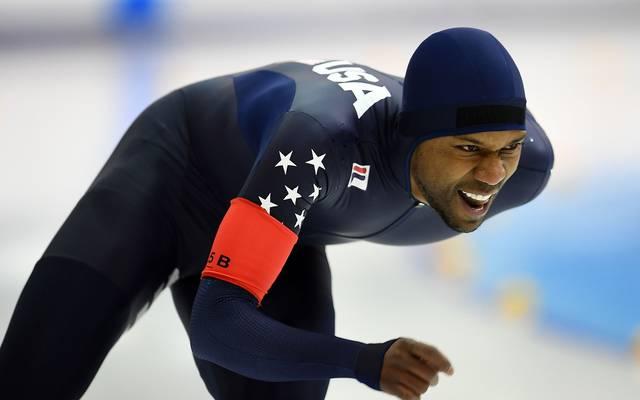 US-Star Shani Davis nimmt bei den Olympischen Spielen in Südkorea teil