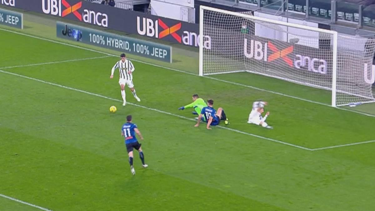 Juventus Turin kann gegen Atalanta Bergamo nicht gewinnen. Gegen das Team von Nationalspieler Robin Gosens vergibt ausgerechnet Cristiano Ronaldo die große Chance zum Sieg.