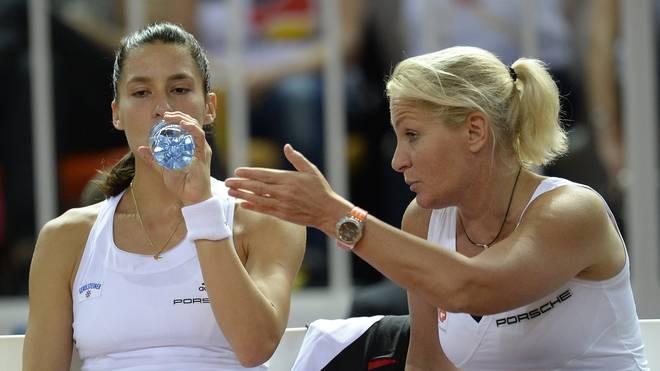 Das deutsche Fed-Cup-Team mit Andrea Petkovic und Barbara Rittner trifft auf die USA