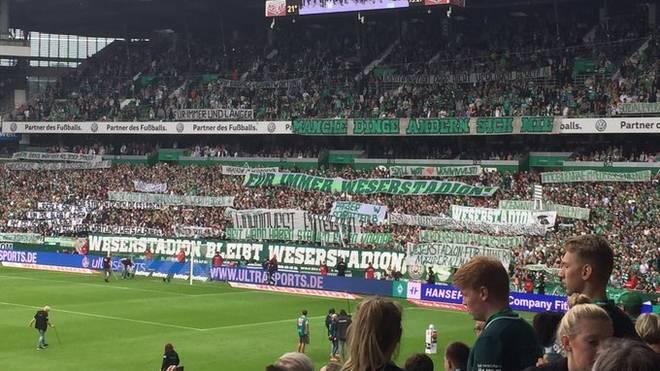 Bremens Fans sind mit dem neuen Stadionnamen alles anders als einverstanden