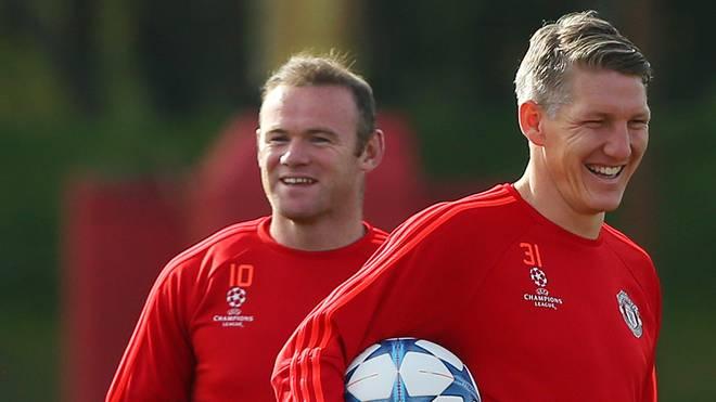 Bastian Schweinsteiger (r.) mit Wayne Rooney