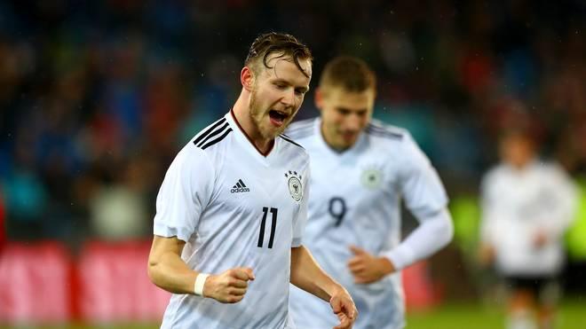 Cedric Teuchert erzielte in seinen ersten drei Einsätzen für die deutsche U21 zwei Tore