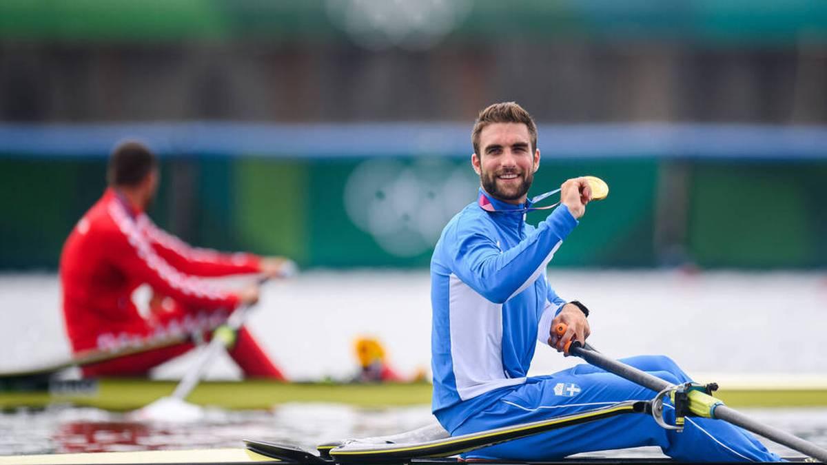 Der Grieche Stefanos Ntouskos sicherte sich überraschend Olympia-Gold