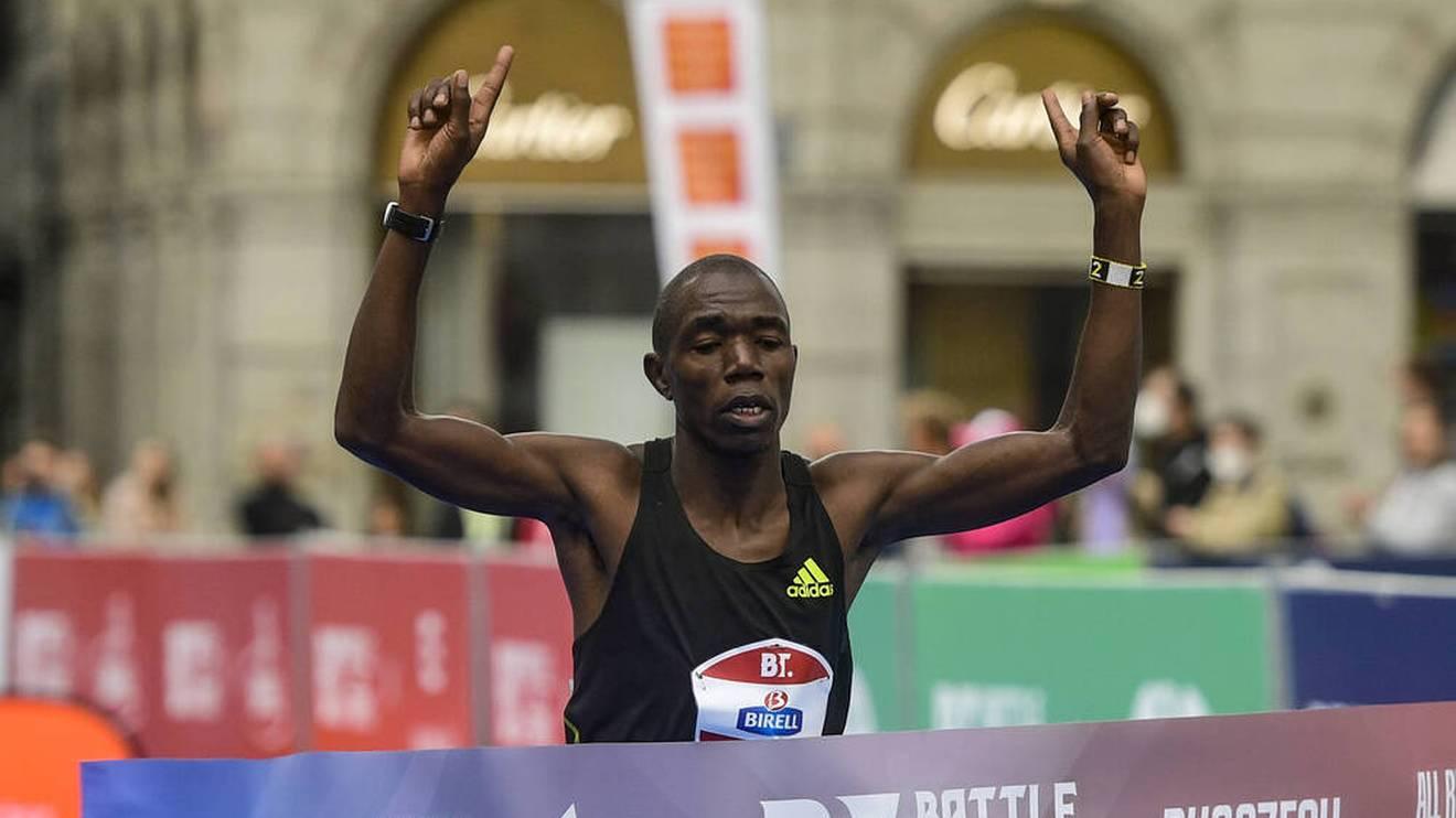 Benson Kipruto gewann den Boston-Marathon