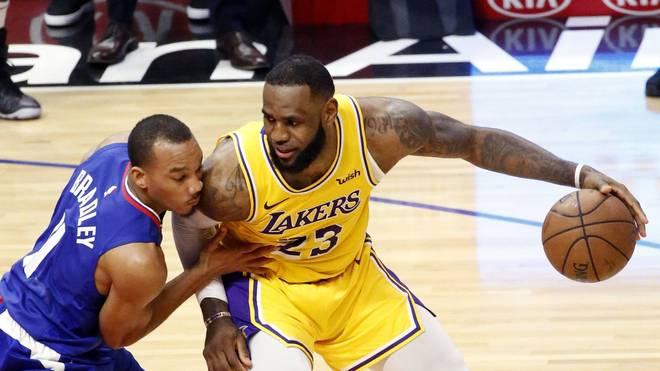 Avery Bradley (l.) spielt künftig für die Los Angeles Lakers