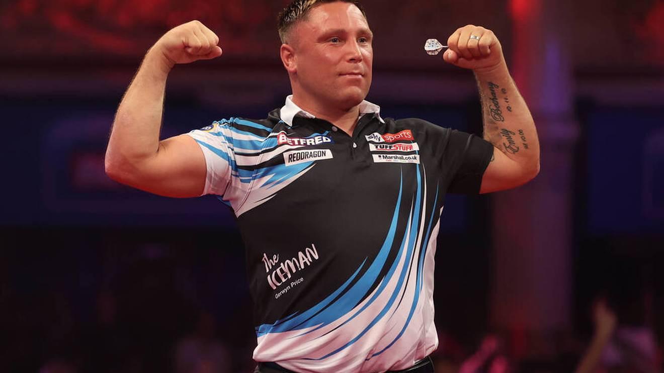 Gerwyn Price steht im Viertelfinale der Darts European Championship