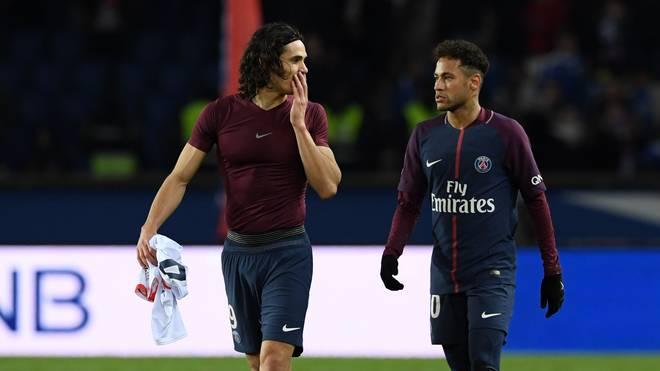 Edinson Cavani und Neymar gehören zu den größten Stars im Team von Paris Saint-Germain